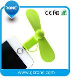OTG beweglicher USB 2 in 1 Miniventilator für iPhone und androides Telefon