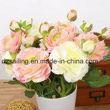 Fleur artificielle de cheminée de sélection simple de Ranunculus (SW04804)