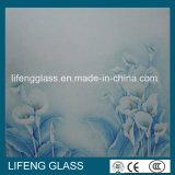 Vidro Sandblasted vidro gravado ácido para a balaustrada ou o cerco