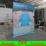 Cabina portable de la exposición de la tela de aluminio de la venta directa de la fábrica