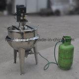Acero inoxidable que inclina la calefacción de vapor eléctrica que cocina la caldera de la chaqueta (QJ)