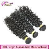 Выдвижения черных волос перуанских человеческих волос естественные