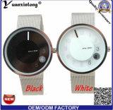 Relógio luxuoso de Paidu dos homens pretos clássicos especiais do movimento de quartzo de Japão da cinta de couro do seletor da plataforma giratória Yxl-725