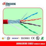 Approvisionnement d'usine de câble de Linan Dongsheng avec 4 paires de CCA/Cu Cat5e de câble de ftp