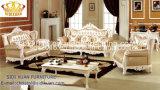 Salón Sofá / Madera Sofá / sofá de estilo europeo / clásico Sofá / Media-sofá de cuero Sq008