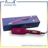 2016 Fachmann-Anionen-Haar-Strecker-Pinsel Escova Alisadora LCD elektrisches keramisches Haar, das schnelle Kamm-Eisen geraderichtet