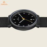 人72345のための網バンドが付いている簡単な円形のステンレス鋼の腕時計