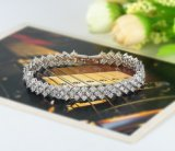 형식 Women Zircon Couple Bangles와 Bracelets (CBR0008-B)