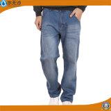 Fabrikmens-Jeans-keucht blaues Ausdehnungs-Denim Form-Baumwollhosen