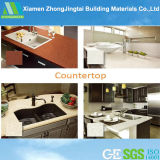 Hohes Polished Kitchen Cabinets mit Quartz Countertops From China