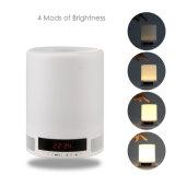 Altofalante de Bluetooth do despertador da lâmpada de tabela do diodo emissor de luz para o telefone