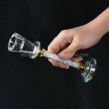 Подарок украшения таблицы венчания подсвечника кристаллический держателей для свечи цветка стеклянный