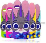 Samsung J7 J5 J510 J710の携帯電話のアクセサリ(XSD-003)のための3Dウサギのシリコーンの電話箱