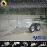 de Landbouw volledig Aanhangwagen met 4 wielen van de Auto met de Kooi van het Staal