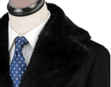 Couche d'hiver d'évent unique de laine du Fourrure-Collier des hommes de bonne qualité longue