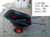Wheelbarrow plástico grande resistente da bandeja