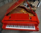 Piano à queue rouge chaud Hg-158r, piano rouge de bébé de qualité supérieur de vente beau avec Pianodisc