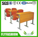 Cadeira da escola da escada de dobradura da mobília da universidade na sala de aula da escada
