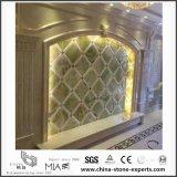 Естественный золотистый мраморный строительный материал предпосылки для украшения пола/стены конструкции