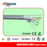 Fonte da fábrica do cabo de Linan Dongsheng com 4 de CCA/Cu Cat5e pares do cabo do ftp