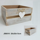 En71 ASTM Standard Vintage Wooden Storage Box mit Heart Design