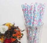 Blumen-Papiertrinkhalm für Partei