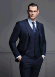 Großhandelsmens Customerized Wool 3PCS 2 Vorderes-Button Formal Event Suits