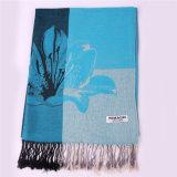 Sjaal van de Winter Pashmina van dames de Blauwe Grote voor het Patroon van de Jacquard