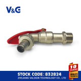 Bibcock chiudibile a chiave d'ottone con nichelato (VG-D11121)