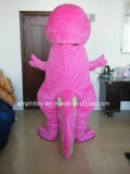 Traje roxo da mascote do personagem de banda desenhada da discussão do dinossauro da qualidade super