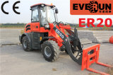 Er20 Everun Consturction Maschinen-kleine Rad-Ladevorrichtung mit Sand-Spreizer