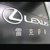 3D varios nombres de encargo de la insignia de la marca de fábrica del coche del material LED