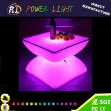 Mobília redonda colorida da mesa de centro do diodo emissor de luz/diodo emissor de luz