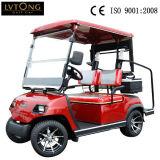 2 Seaterの赤い電気ゴルフシャトルのカート
