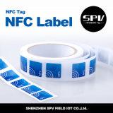OIN 14443A de Ntag 215 de papier enduit d'à haute fréquence d'étiquette de NFC
