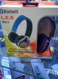 2016년 Higi LED 입체 음향 무거운 베이스 무선 Bluetooth 헤드폰