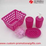 Ensembles en plastique d'accessoires de salle de bains de couleur de maison d'utilisation pure d'hôtel