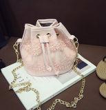 여자 작은 메신저는 레이스 Sy7676를 가진 제조소 물통 핸드백을 자루에 넣는다