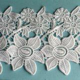 Merletto solubile in acqua di cerimonia nuziale del poliestere del merletto di Embroideried di vendita calda