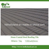 Telha de telhado revestida de pedra da folha de metal (telha de Milão)