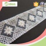 Linda rede e bordado de organza flor padrão laço