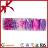 Material de embrulho de presente de Natal Curling Ribbon Roll e Star Bow