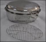 Vaschetta del girarrosto dell'acciaio inossidabile della vaschetta dell'arrosto del pollo della stecca a ganascia