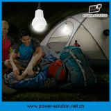 Système de d'éclairage d'énergie solaire de Rechargeble avec le chargeur de téléphone de 2 Bulbs&Mobile pour d'intérieur ou extérieur (PS-K013N)