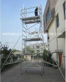 Échafaudage en aluminium mobile approuvé 10m de GV pour la décoration