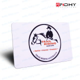 Carte d'adhésion sèche d'IDENTIFICATION RF sans contact d'identification d'affaires de PVC