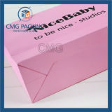 Cosméticos Pink Paper Bag com Handle (CMG-MAY-049)