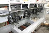 Máquina del bordado de 4 colores de las pistas 12 con las funciones multi casquillo y camiseta y bordado plano