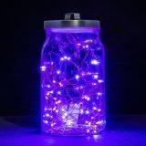 Luz púrpura caliente brillante de la decoración del alambre de cobre LED de la Navidad