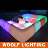 屋外多彩なLEDのソファーライトか屋外の家具のプラスチックLED Sofa/LEDソファー